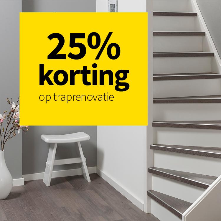 BE 25% korting traprenovatie